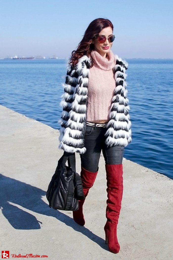 Redhead Illusion - Fashion Blog by Menia - Walk along the waterfront - ( OTK ) Over the knee Boots-05