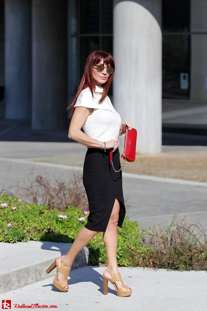 Redhead Illusion - Fashion Blog by Menia - Preppy but sexy too - Zara Pencil Skirt-08