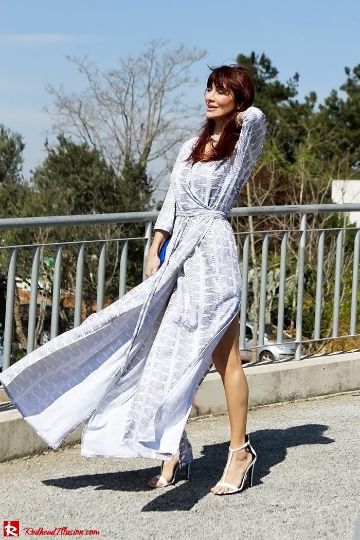 Redhead Illusion - Fashion Blog by Menia - Twisting around - Wrap Maxi Dress-03