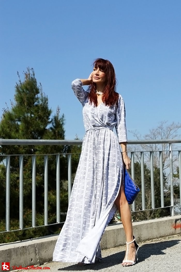 Redhead Illusion - Fashion Blog by Menia - Twisting around - Wrap Maxi Dress-05