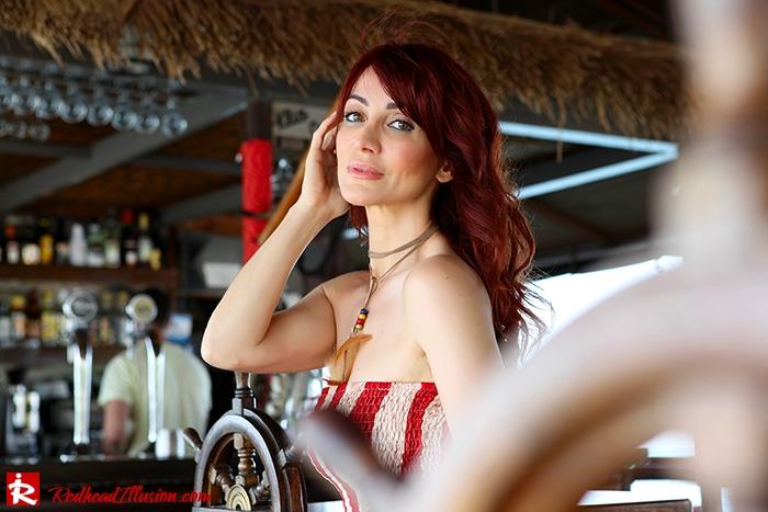 Redhead Illusion - Fashion Blog by Menia - Next exit: American Dream - Denny Rose Dress - H&M Clogs-05