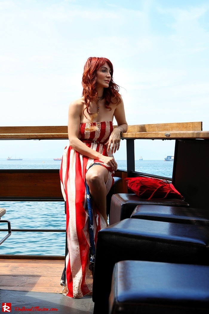 Redhead Illusion - Fashion Blog by Menia - Next exit: American Dream - Denny Rose Dress - H&M Clogs-08