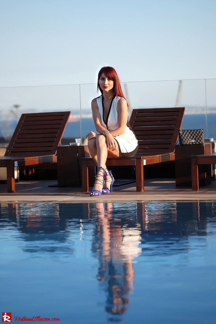 Redhead Illusion - Fashion Blog by Menia -Beside a Pool - Missguided Dress - Jessica Simpson Heels-07