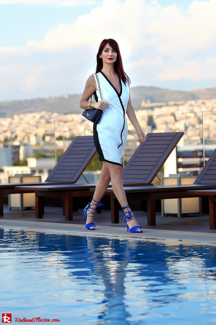 Redhead Illusion - Fashion Blog by Menia -Beside a Pool - Missguided Dress - Jessica Simpson Heels-10