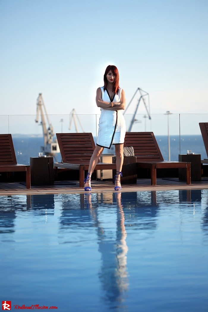 Redhead Illusion - Fashion Blog by Menia -Beside a Pool - Missguided Dress - Jessica Simpson Heels-12