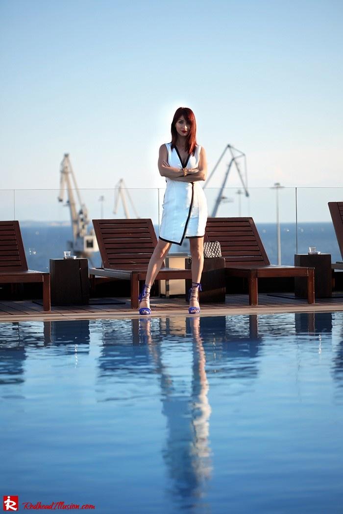 Redhead Illusion - Fashion Blog by Menia -Beside a Pool - Missguided Dress - Jessica Simpson Heels-12