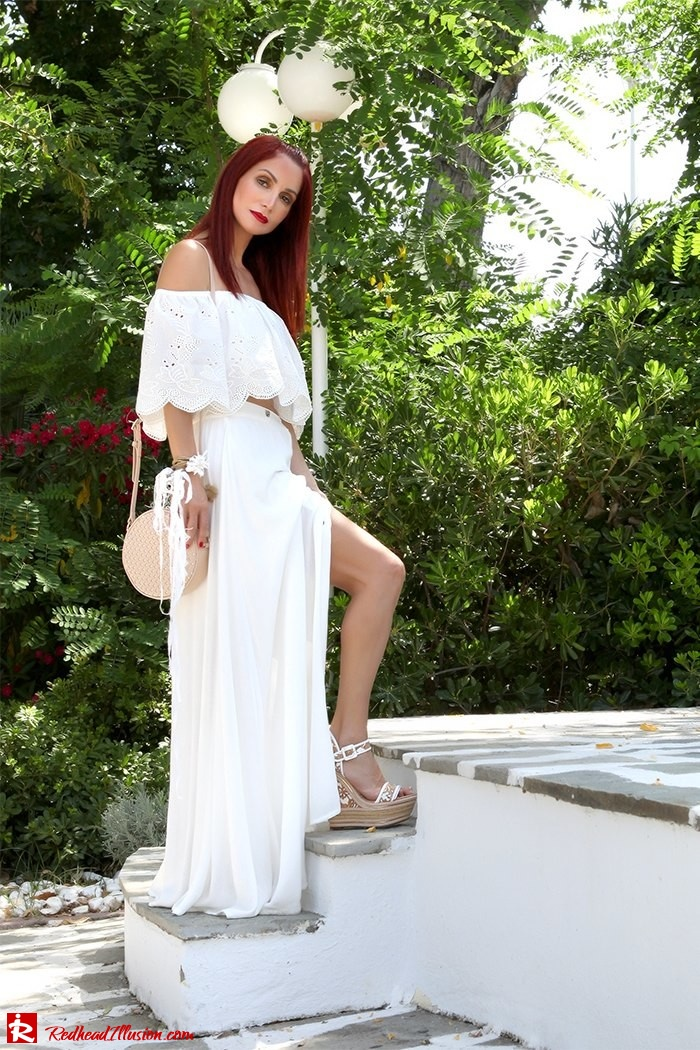 Redhead Illusion - Fashion Blog by Menia - A trip to white - Access Skirt - Jessica Simpson Wedges-15
