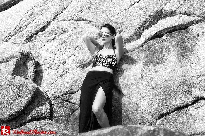 Redhead Illusion - Fashion Blog by Menia - On the rocks - Peter Pilotto - Bikini Top-04