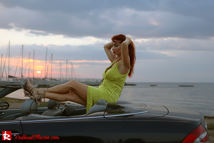 Redhead Illusion - Fashion Blog by Menia - Colorful Sunset - Asos Dress - Jessica Simpson Sandals-09