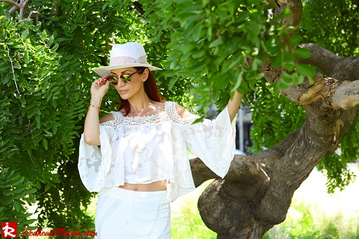 Redhead Illusion - Fashion Blog by Menia - Lately-04- Culotte - Sandals - H&M Hat