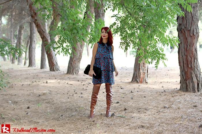 Redhead Illusion - Fashion Blog by Menia - Fall in Ruffles - Denny Rose Dress - Zara Bag - Over the knee Boots-03