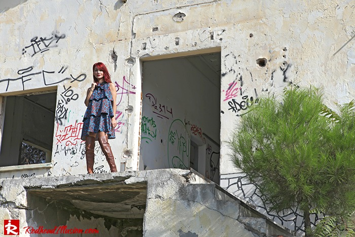 Redhead Illusion - Fashion Blog by Menia - Fall in Ruffles - Denny Rose Dress - Zara Bag - Over the knee Boots-11