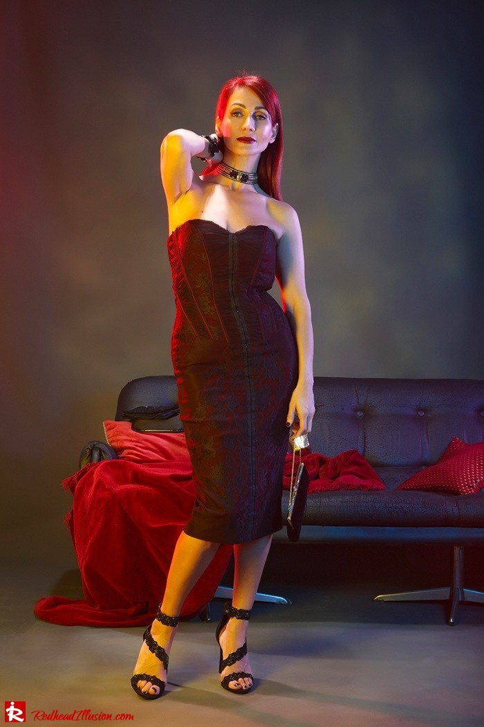 Redhead Illusion - Fashion Blog by Menia - Festive Nights-1 - Karen Millen Dress-06