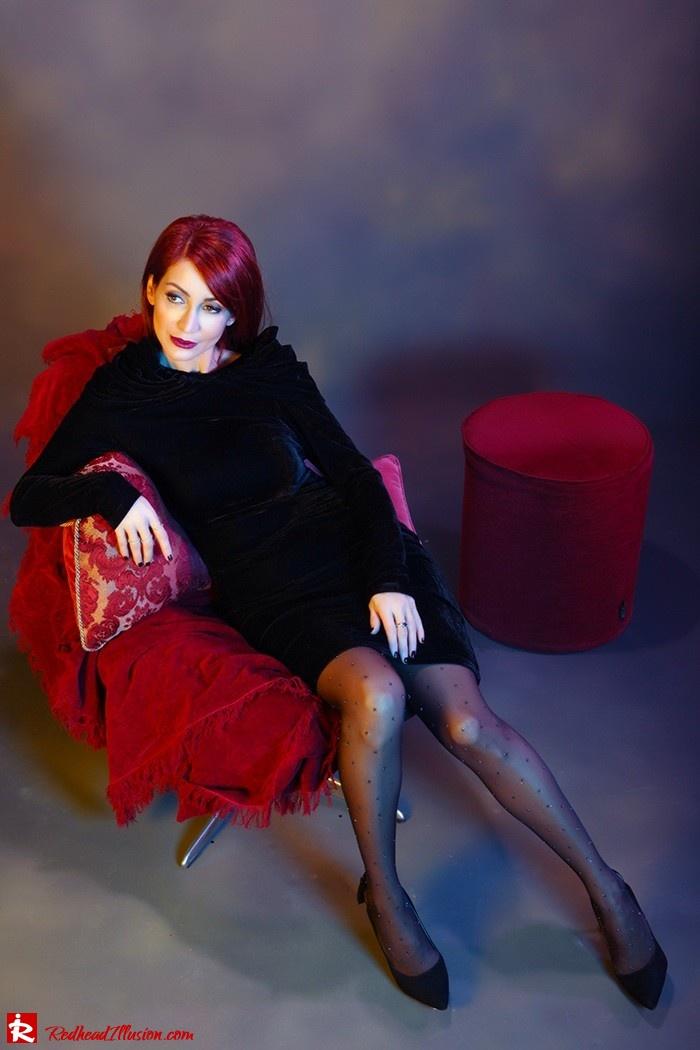 Redhead Illusion - Fashion Blog by Menia - Festive Nights-2 - Velvet Dress-03