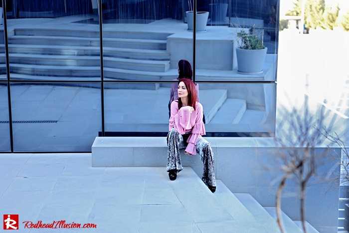 Redhead Illusion - Fashion Blog by Menia - Fade to grey - Zara Velvet Pants - Denny Rose Blouse-10
