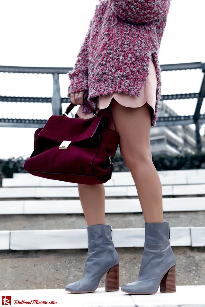 Redhead Illusion - Fashion Blog by Menia - Pink Affair - Knitted Sweater- Shein Skirt - Zara Booties-03