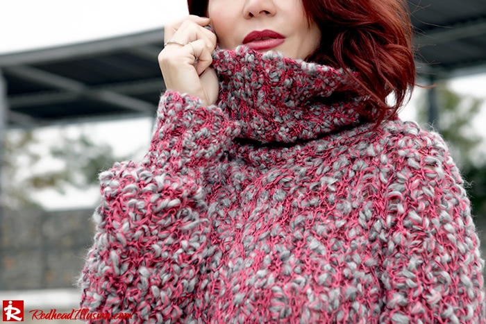 Redhead Illusion - Fashion Blog by Menia - Pink Affair - Knitted Sweater- Shein Skirt - Zara Booties-08