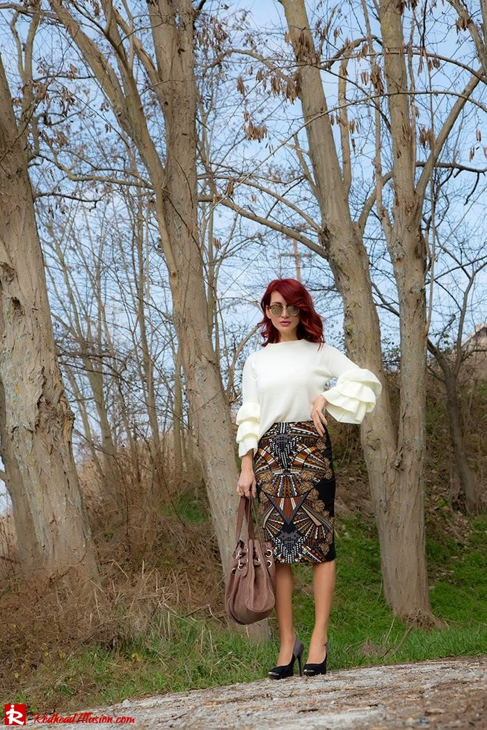 Redhead Illusion - Fashion Blog by Menia - Lately - March 2017 - 04 - Expressing - Shein Blouse - Jimmy Choo Bag