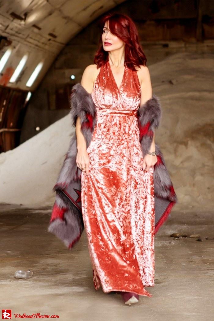 Redhead Illusion - Fashion Blog by Menia - So old so new - Missguided Dress-04