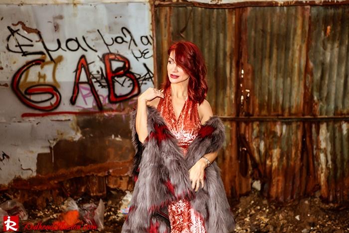 Redhead Illusion - Fashion Blog by Menia - So old so new - Missguided Dress-10