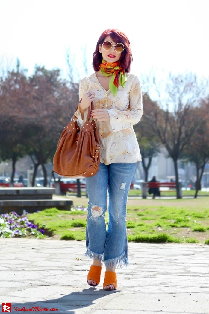 Redhead Illusion - Fashion Blog by Menia - Spring Fever - Jeans, Mules Zara - Scarf Hermes-03