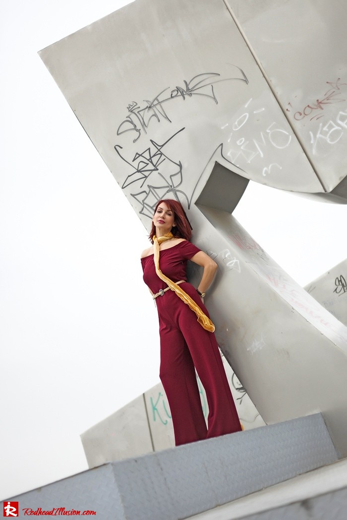 Redhead Illusion - Fashion Blog by Menia - Bordeaux - Lulu's Jumpsuit-04