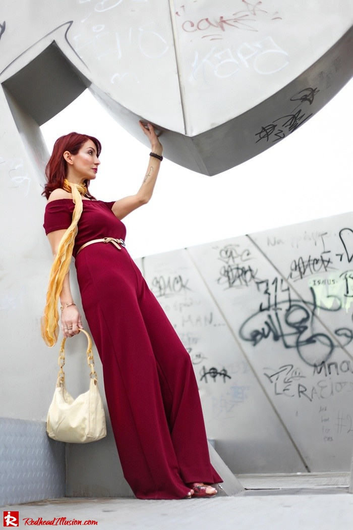 Redhead Illusion - Fashion Blog by Menia - Bordeaux - Lulu's Jumpsuit-06