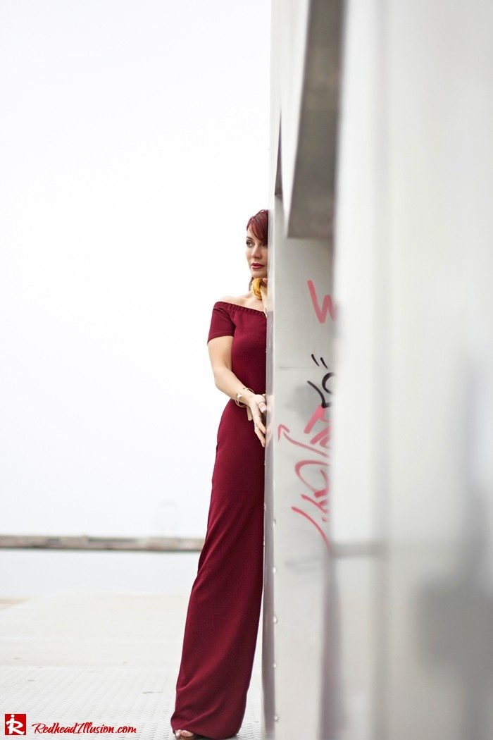 Redhead Illusion - Fashion Blog by Menia - Bordeaux - Lulu's Jumpsuit-07