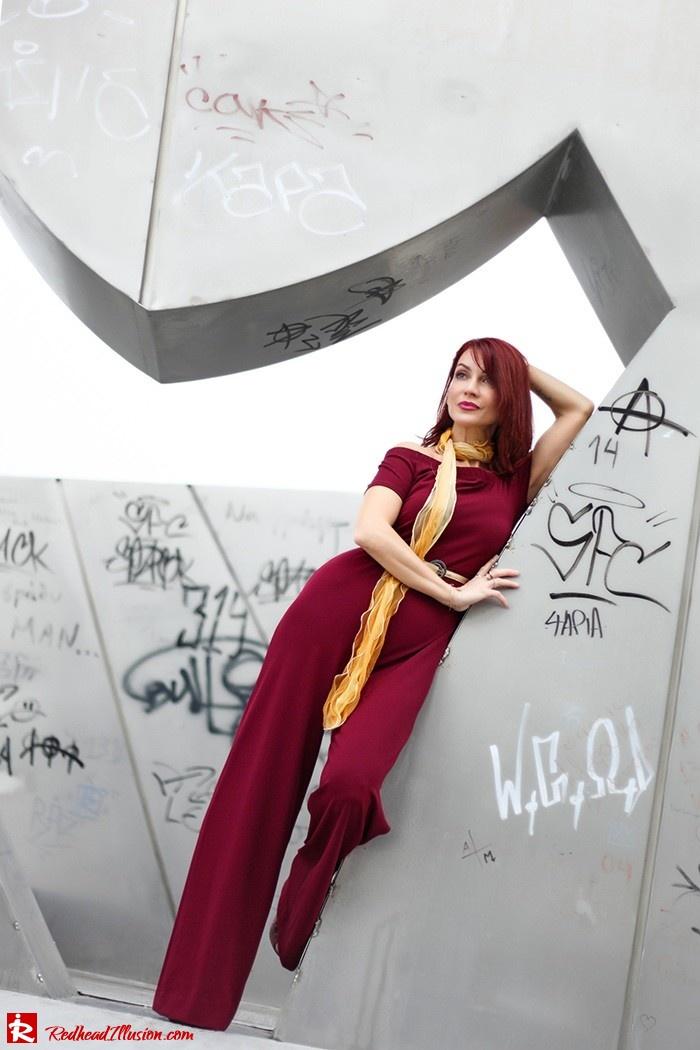 Redhead Illusion - Fashion Blog by Menia - Bordeaux - Lulu's Jumpsuit-08