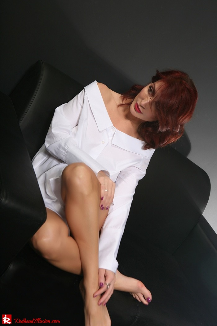 Redhead Illusion - Fashion Blog by Menia - Only one shirt - White Shirt-02