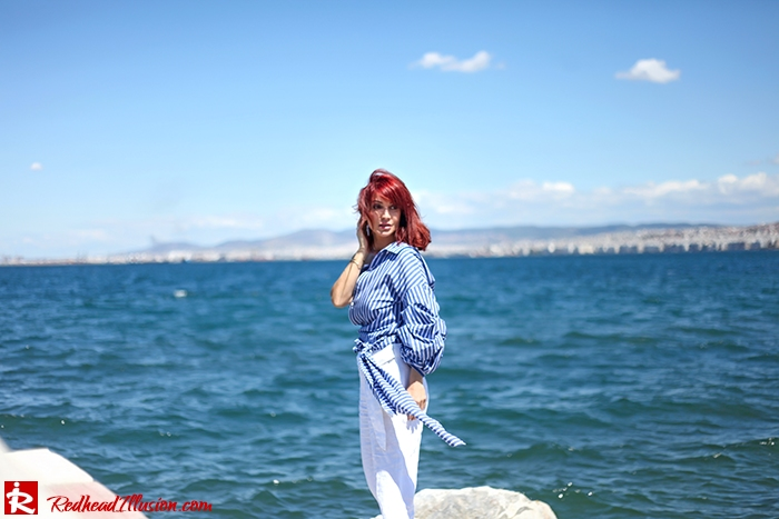 Redhead Illusion - Fashion Blog by Menia - Deconstruction - Shein Shirt-03