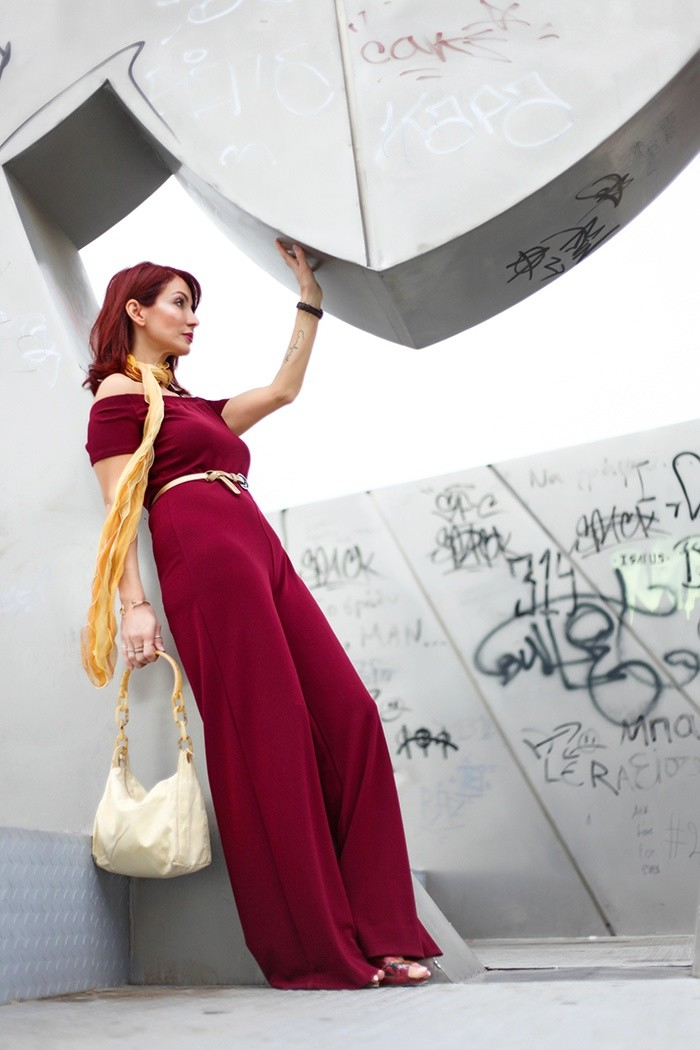 Redhead Illusion - Fashion Blog by Menia - Lately - Jul-02-bordeaux-lulus-jumpsuit