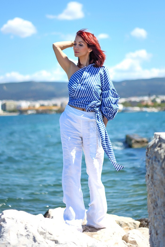 Redhead Illusion - Fashion Blog by Menia - Lately - Jul-04-deconstruction-shein-shirt