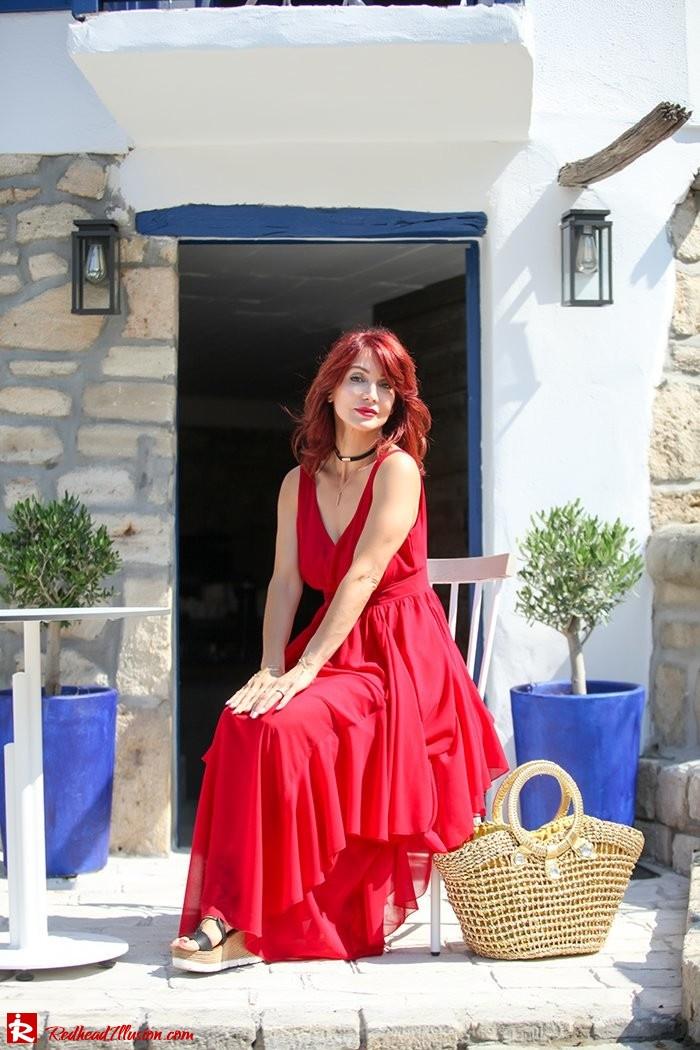 Redhead Illusion - Fashion Blog by Menia - Ethereal red - Shein Dress-02