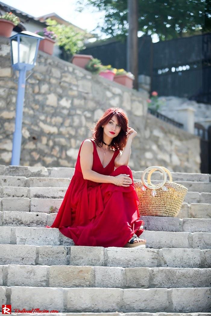 Redhead Illusion - Fashion Blog by Menia - Ethereal red - Shein Dress-03