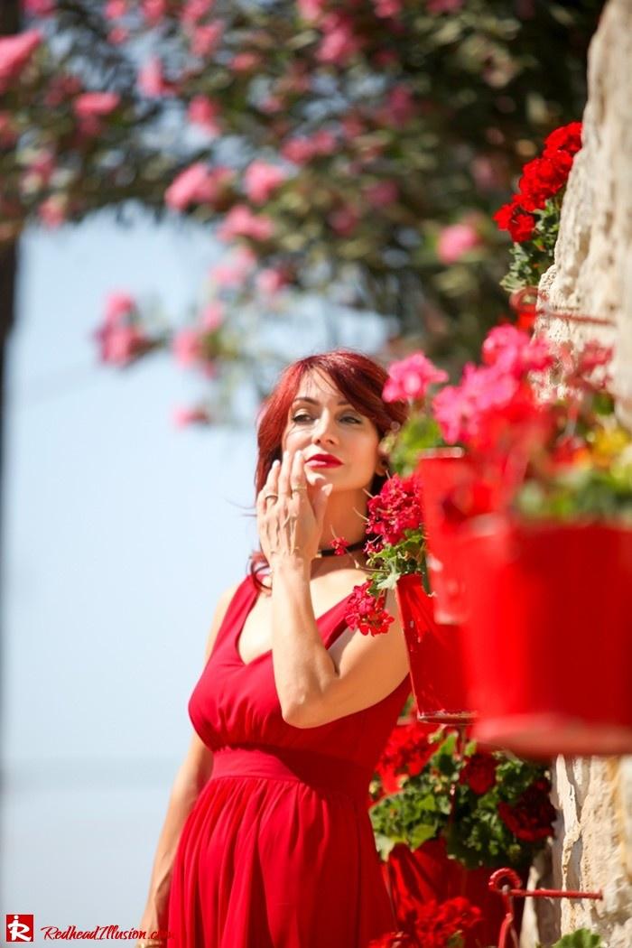 Redhead Illusion - Fashion Blog by Menia - Ethereal red - Shein Dress-06