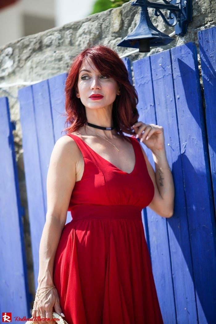 Redhead Illusion - Fashion Blog by Menia - Ethereal red - Shein Dress-10