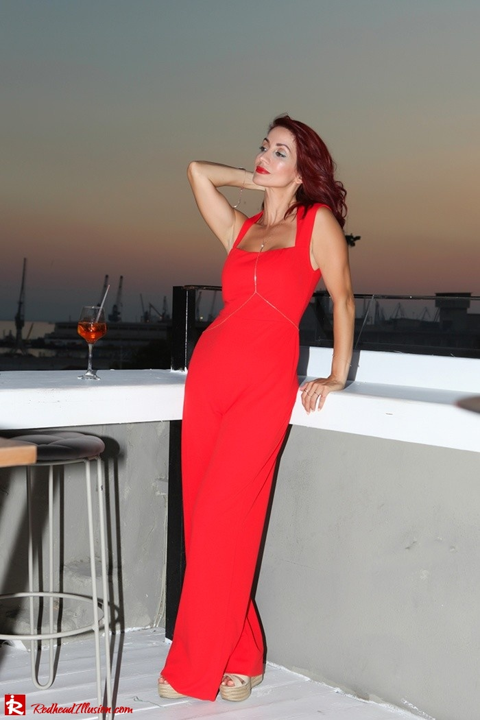 Redhead Illusion - Fashion Blog by Menia - Color your mood - Lulus Jupsuit-09