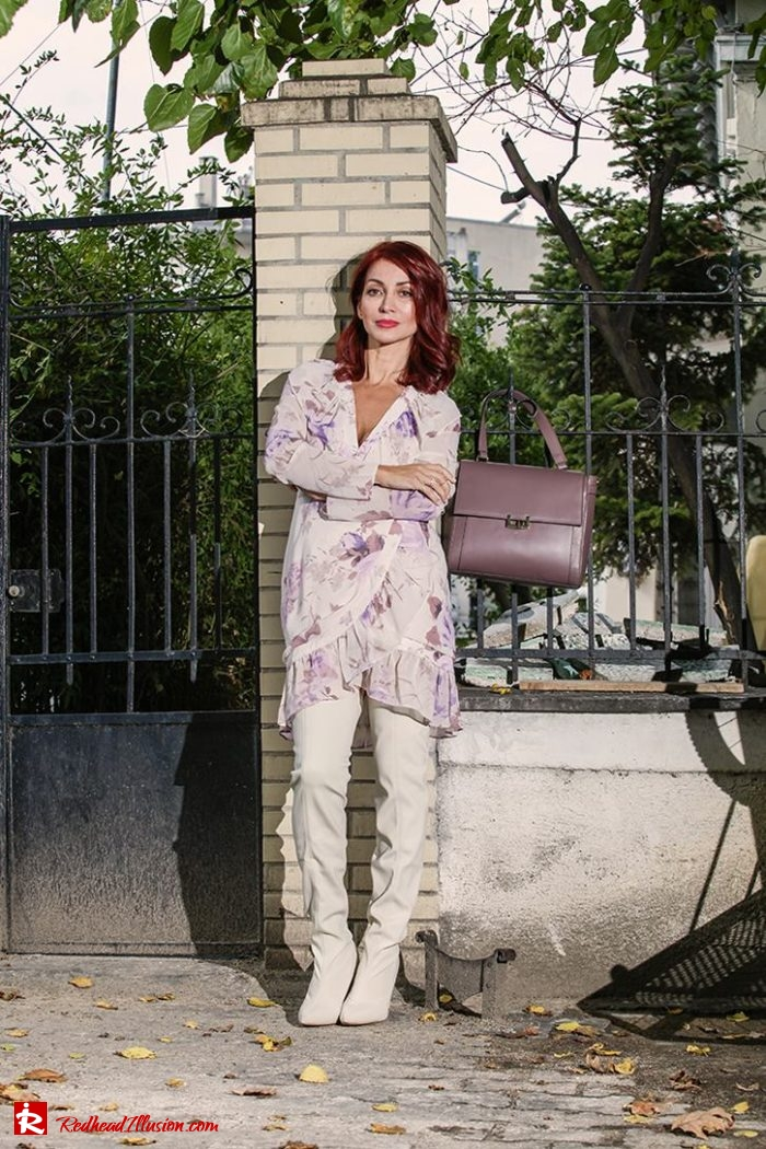 Redhead Illusion - Fashion Blog by Menia - Blossoming Autumn - Missguided Dress-06