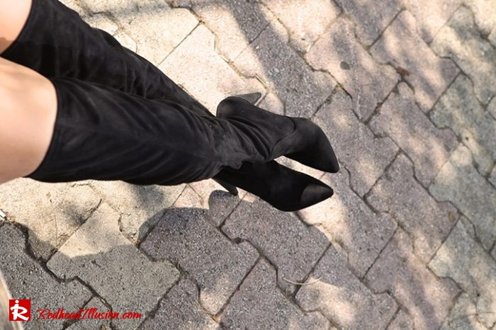 Redhead Illusion - Fashion Blog by Menia - Inspire your style - High and Sexy - OTK Boots-04