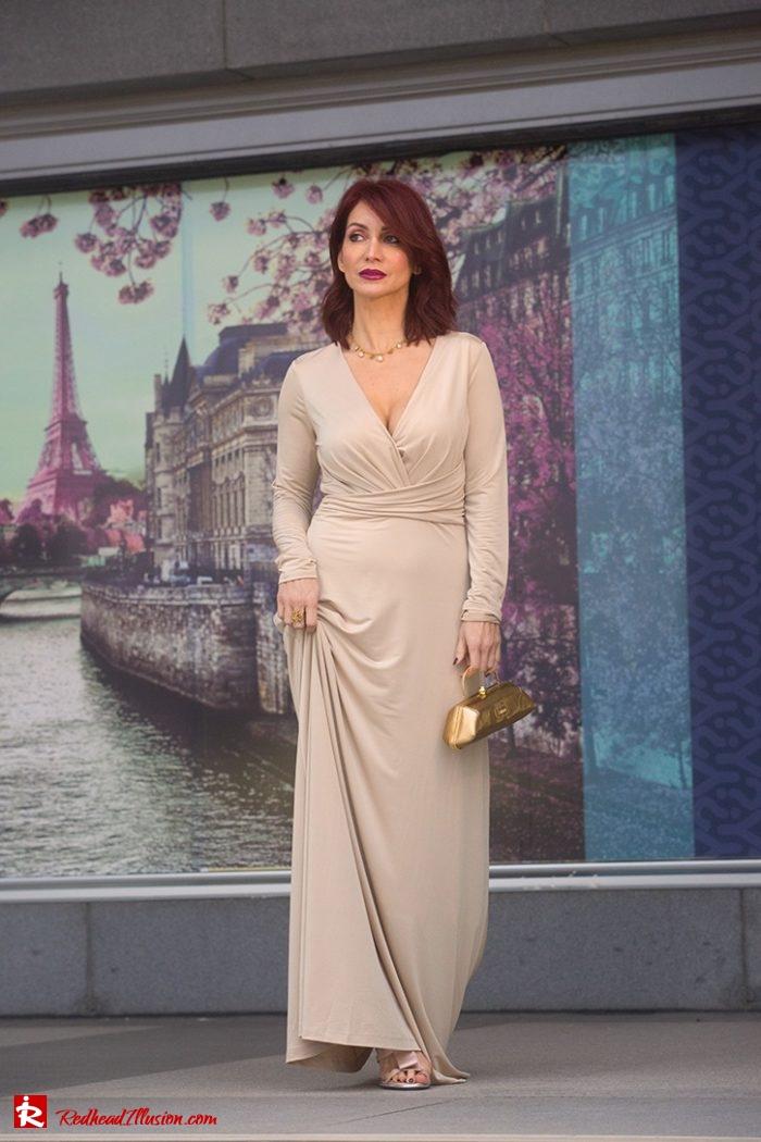 Redhead Illusion - Fashion Blog by Menia - Editorial - Mind Trap - Lulus Maxi Dress - Suzy Smith Clutch-03