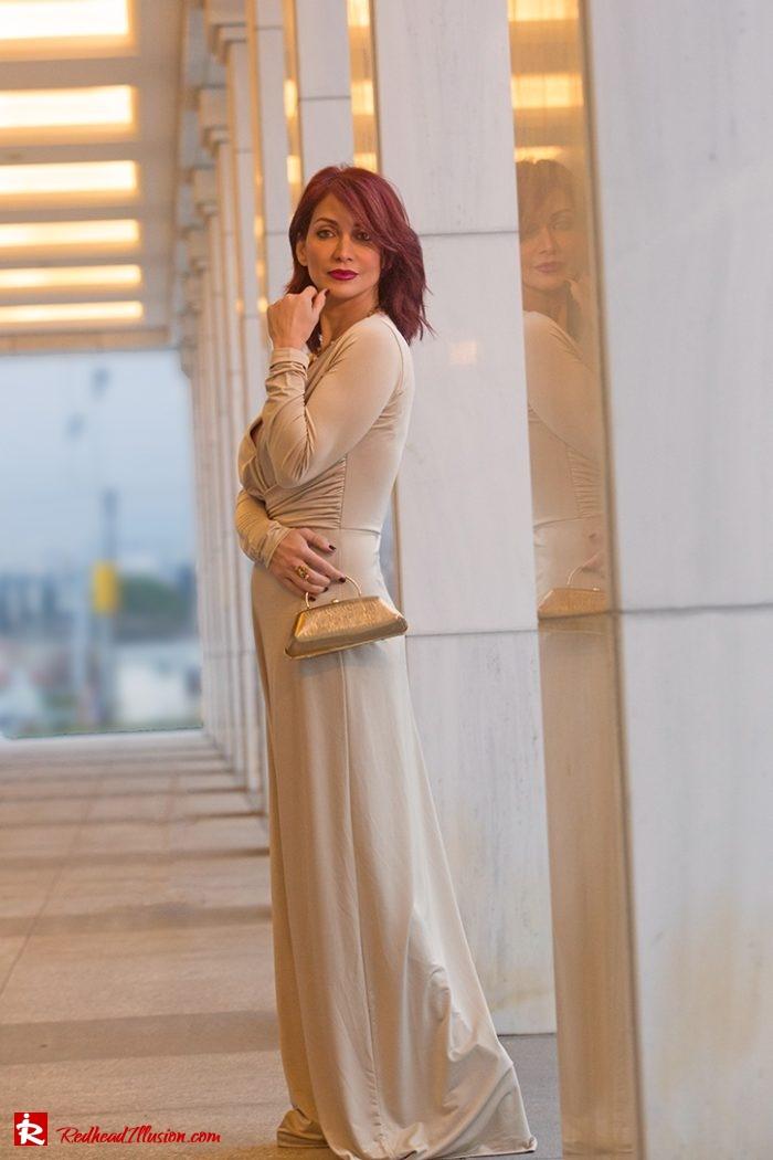 Redhead Illusion - Fashion Blog by Menia - Editorial - Mind Trap - Lulus Maxi Dress - Suzy Smith Clutch-06