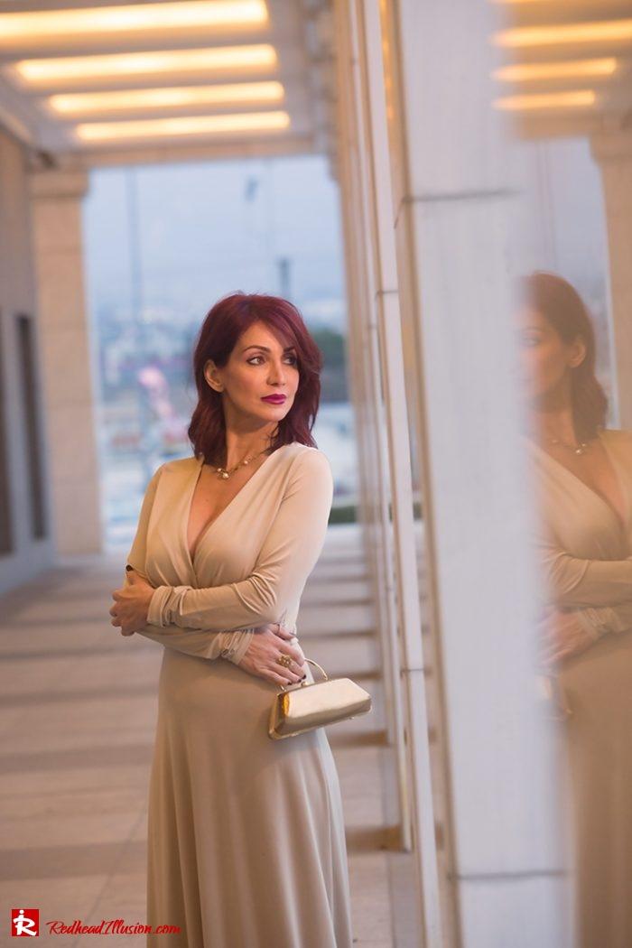 Redhead Illusion - Fashion Blog by Menia - Editorial - Mind Trap - Lulus Maxi Dress - Suzy Smith Clutch-07