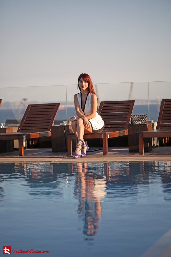 Redhead Illusion - Fashion Blog by Menia - Editorial - Beside a pool - Missguided Dress - Jessica Simpson Heels-03