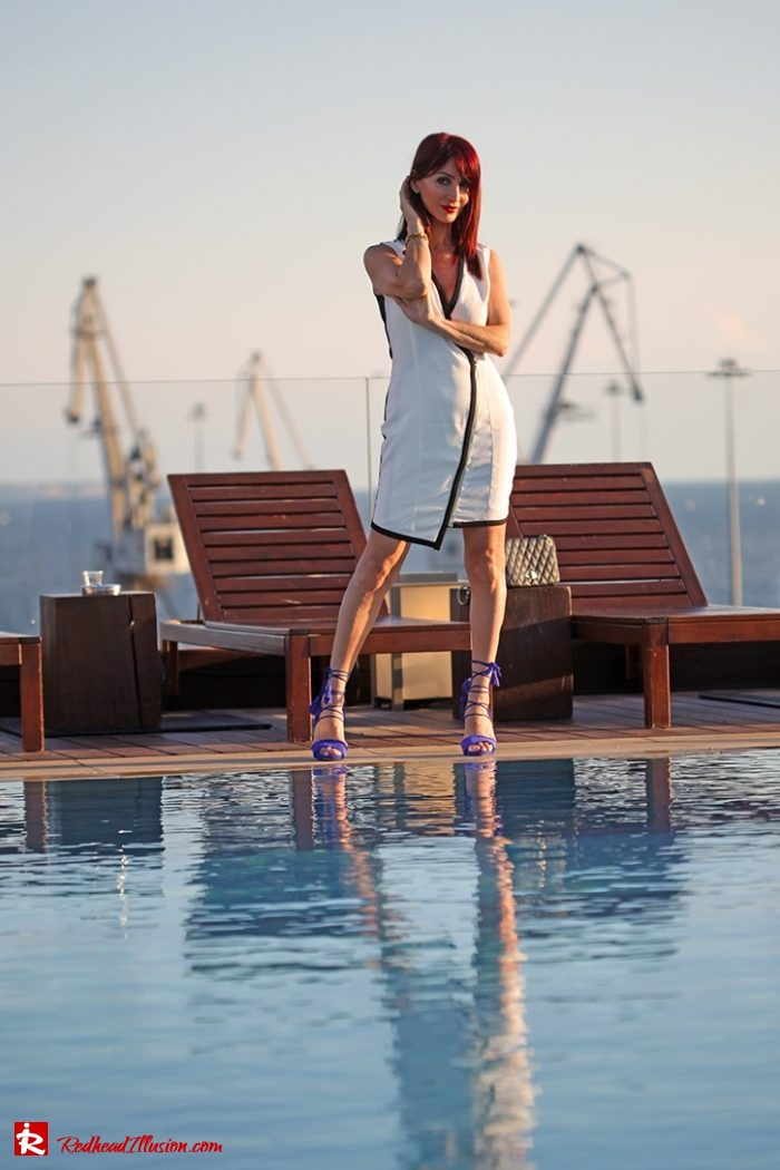 Redhead Illusion - Fashion Blog by Menia - Editorial - Beside a pool - Missguided Dress - Jessica Simpson Heels-04