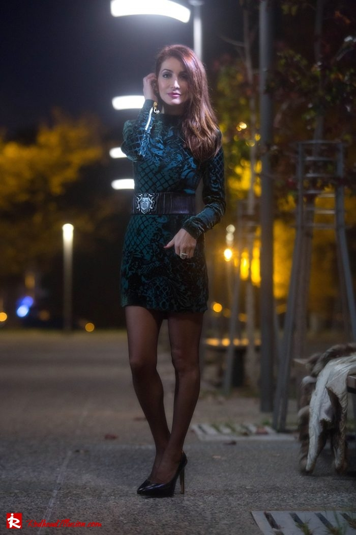 Redhead Illusion - Fashion Blog by Menia - Editorial - Christmas Vision - Balmain Dress-06