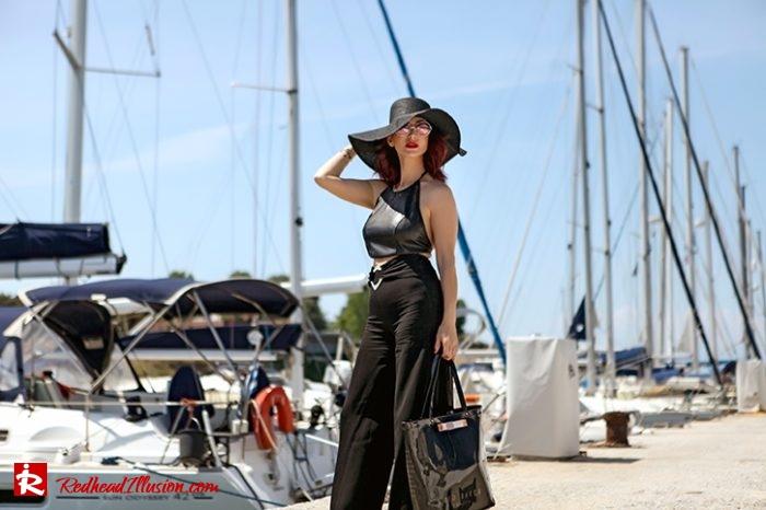 Redhead Illusion - Fashion Blog by Menia - Editorial - City - Total Black-02