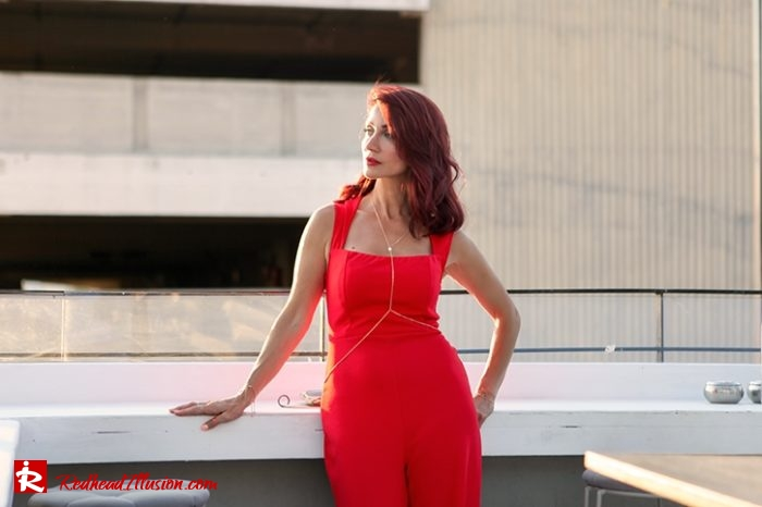 Redhead Illusion - Fashion Blog by Menia - Editorial - Color your mood - Lulus Jupsuit-02