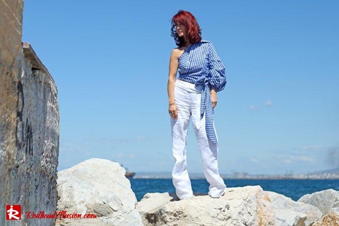 Redhead Illusion - Fashion Blog by Menia - Editorial - Deconstruction - Shein Shirt-02