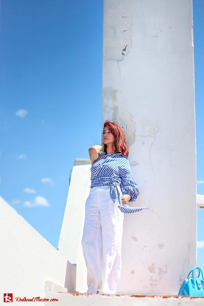 Redhead Illusion - Fashion Blog by Menia - Editorial - Deconstruction - Shein Shirt-03